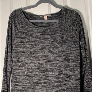 Marled Black and Gray Light Sweater